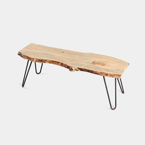 Mesa de centro de madera de pino natural forma árbol 80x30x40 patas hairpin legs: Amazon.es: Handmade