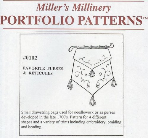 Vintage & Retro Handbags, Purses, Wallets, Bags 1790 to 1800 Favorite Purses and Reticules Pattern $15.95 AT vintagedancer.com