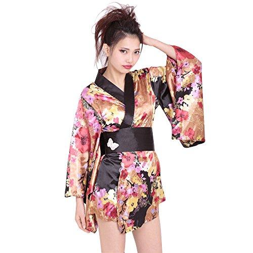 Be With Women's Classical Mini Kimono One-Size Multicolored -