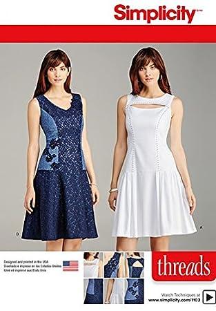 Blanc 21 x 15 x 1 cm Burda Simplicity S7845.A Patron de Couture T-Shirt Papier
