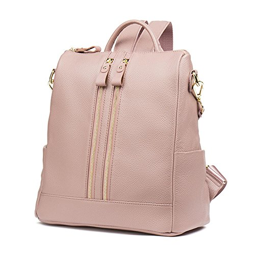 Satchel Backpacks Functional Casual Shoulder Pink Leather Multi Women Black Purse Bag HMILY nU0tZww