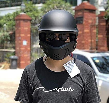 TKUI Motorradhelm Full Face Motocross-Offroad-Helm Four Seasons Universal Outdoor-Jugend-Kinder-Dirt-Fahrradhelme Handschuhe, Brille, Maske, 4-teiliges Set