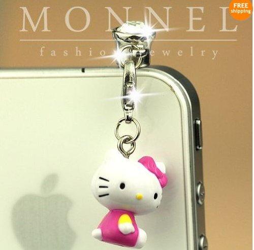 Ip356-B Luxury Hello Kitty Angel 3d Charm Anti - Hello Kitty Ear Plugs