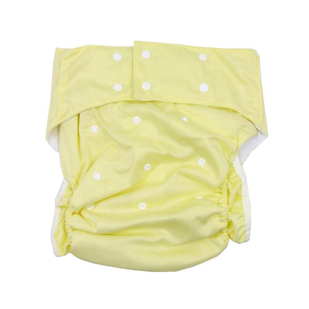 lukloy–Camiseta de adultos pañales de tela con inserto de 1pc para cuidado de incontinencia–Dual Apertura bolsillo lavable ajustable reutilizable antigoteo para pañales Salmon Shenzhen M-Home Co. Ltd