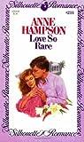 Love So Rare, Anne Hampson, 0671572148