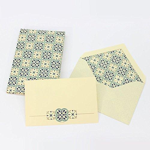Florentine Cream (Quadrilobo Medium Cards and Envelopes Portfolio)