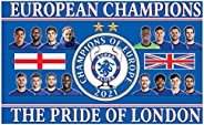Giant Chelsea 2021 Champions League & European Soccer Champions Flag (100% Polyester & 5f