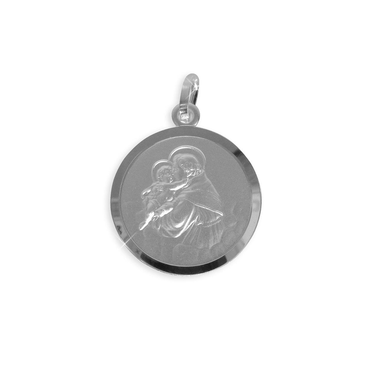 Heiliger Antonius Medaille Anhänger Durchmesser 12mm (Art.213019/036/079) GRATIS-SOFORT-GRAVUR Viennagold 213036