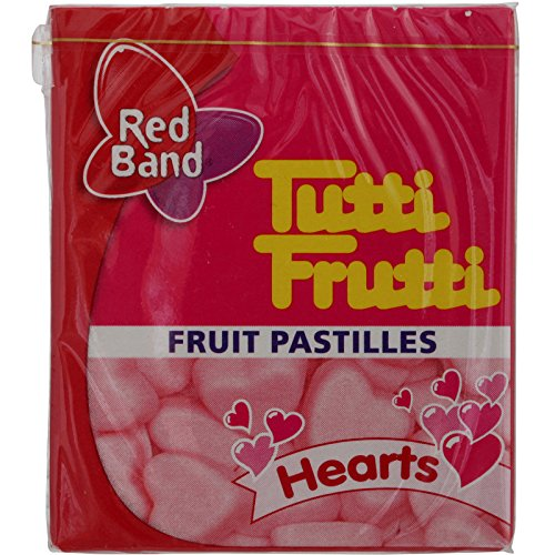 Red Band, Tutti Fruitti, Fruit Pastilles, Hearts, net weight 15 g (Pack of 12 pieces) / Beststore by KK8 ()