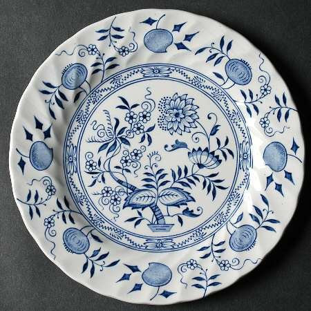 Ironstone Dessert - Wood & Sons Old Vienna Ironstone Dessert Plate Blue Onion
