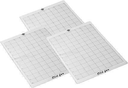 Binchil Alfombrilla Adhesiva de Repuesto de Corte de 3 Piezas con Rejilla de MedicióN de 8 por 12 Pulgadas para la MáQuina Plotter Explore Cameo de Silhouette: Amazon.es: Oficina y papelería