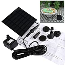 GOCHANGE Solar Bird bath Fountain Pump for Garden and Patio, Panel Size: 4.3 x 4.3 x 1 Inch & 1.2W Solar Pump with 4 Nozzles