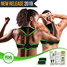 Clavicle Brace Neck Hump Corrector, Posture Corrector for Women & Men, Magnetic Upper Back Brace Slouch Posture Support, Upright Posture Trainer, Back Straightener, Best Scoliosis Primate Brace