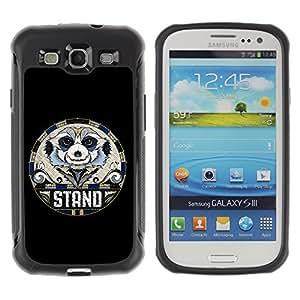 Hybrid Anti-Shock Defend Case for Samsung Galaxy S3 / Cute Ladybug wangjiang maoyi by lolosakes