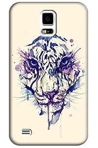 Sangu Tiger Head Beige Hard Back Shell Case / Cover for Samsung Galaxy S5