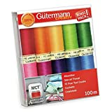 Gutermann Sew-All Colorful Set 100% Polyester Thread Set 10 x 100m Reels