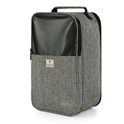 VASCO Shoe Travel Bag – Zipper Bags – Suitable as Shoe Gym Bag – For Men & Women - Gray by Vasco