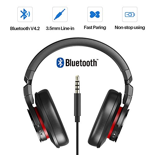 Proxelle Wireless Headphones Over Ear Active Noise Cancelling Portable Bass HiFi Stereo Wired and Wireless Headsets with Airplane Adapter for Travel Work iPhone Android PC Cell Phones TV Serenity by Proxelle (Image #3)