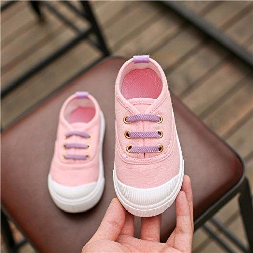 Baby Schuhe Huhu833 Baby Mode Süßigkeit Farben Segeltuch Turnschuh Kind Freizeitschuhe Rosa