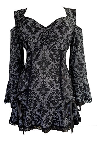 Dare to Wear Victorian Gothic Boho Temptation Corset Top London M -