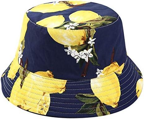 Bob Chapeau de Soleil,Ete Chapeau de P/êche Casquettes Visi/ères Anti-UV Bonnet Motif Fruit UV Solaire Chapeaux Femme Homme Unisexe pour Loisirs Voyage P/êche Plage