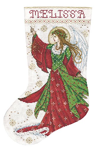 Tobin DW5990 14 Count Angel of Joy Stocking Counted Cross Stitch Kit, 17-Inch Long