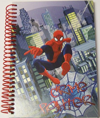 """Marvel Ultimate Spiderman College Ruled Spiral Notebook ~ Crime Fighter (5"""" x 7""""; 100 Sheets, 200 Pages)"""