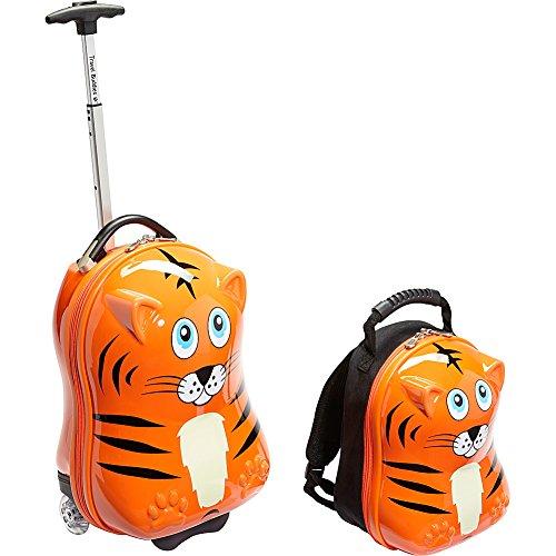 Travel Buddies Luggage, Tinko Tiger/Orange (Orange Small Rolling Luggage)