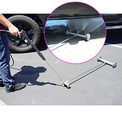 """Broutech Undercarriage /Drive way Washing Broom Cleaner, 4000 PSI W/36 inch Extention Wand & Wheel Angle Board (15"""" 3Jet Fixed W/Angle Board & 36"""" Extension)"""