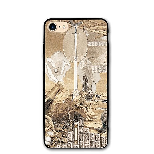 iPhone 8/8s Case Art Picture Anti-Scratch PC Rubber Cover Lightweight Soft Slim Printed Protective Case]()