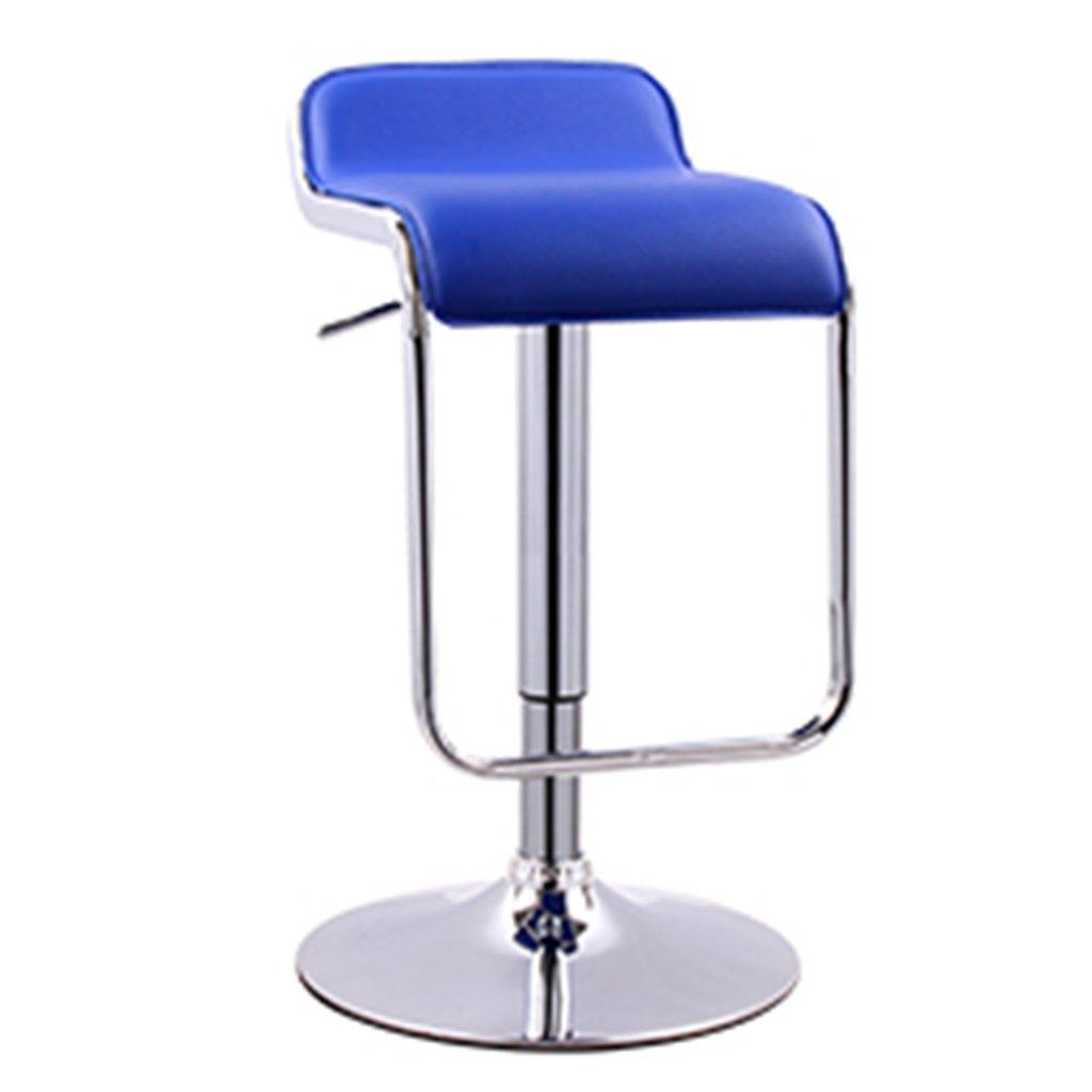 AXCバースツール、回転可能な高さ調節可能なモダンミニマリストバースツール (色 : Blue) B07F6CMN6V Blue Blue