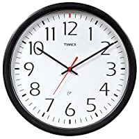 Timex 46004T Set and Forget Wall Clock, ...