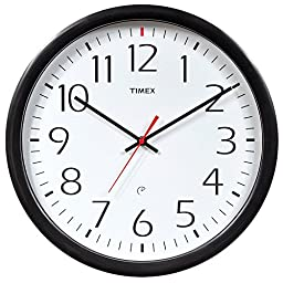 Timex 46004T Set and Forget Wall Clock, 14-Inch