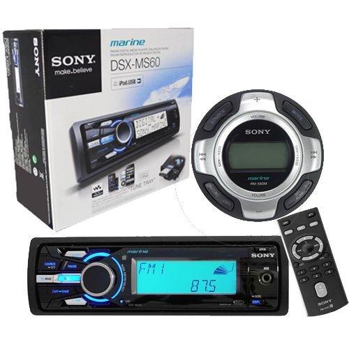 Sony DSXMS60 Marine Boat MP3 USB iPod iPhone Radio Receiver RMX60M Wired (Marine Wired Remote)