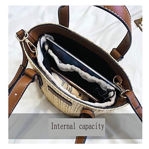 Brown bandoulière cuir main PU sac Modèle dames étudiant diagonale Paille Roland S seau code en à Dream 208 sac sac paquet sac à Cq0RFxwU