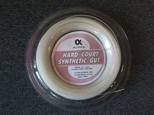 Alpha Hard Court Synthetic 16g, 330 Feet, White