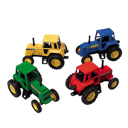 red tractor toy - 2