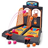 Adult Toys Games Best Deals - Basketball Shooting Game, YUYUGO 2-Player Desktop Table Basketball Games Classic Arcade Games Basketball Hoop Set, Fun Sports Toy for Adults-Help Reduce Stress