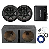 q power subwoofer box package - 2x Kicker 12