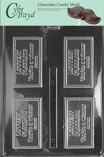Cybrtrayd M092 Lottery Ticket Miscellaneous Chocolate Candy Mold
