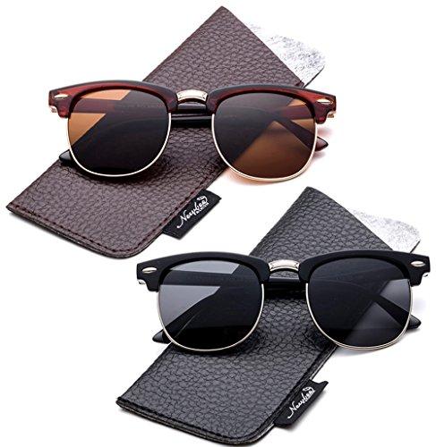 Kids Polarized Sunglasses Retro Horn Rimmed Girls/Boys with Pouch Girls Boys Sunglasses