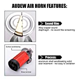 Audew 12V Air Horns Chrome Dual Trumpet 150db Super Loud with Compressor Twin Tone Horn for SUV Truck Train Van Boat