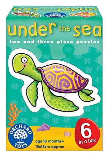 Orchard-Toys-Under-the-Sea-Juego-de-6-puzzles-2-a-3-piezas-diseo-de-animales-marinos