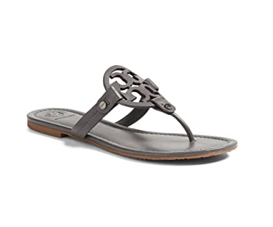 f8d041cd0bb09 Tory Burch Miller Leather Sandals (Dark Gray) (13)