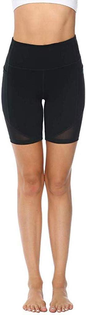 Workout Army Green, M Women Stretch Yoga High Waist Short Abdomen Training Fitness Gym Sports with Pockets Pants YunZyun Yoga Pants for Women