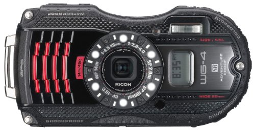 Waterproof digital camera black waterproof 14m; shock-resistant 2.0m; cold -10 degrees RICOH WG-4GPSBL 08558 - International Version (No Warranty) by Ricoh
