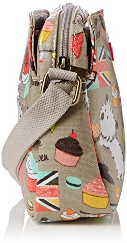 SwankySwansBiba Dog Cupcake 3 Pocket - Bolso bandolera mujer Gris - gris (gris)