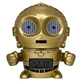 BulbBotz Star Wars C3PO Kids Night Light Alarm Clock with Characterized Sound | gold/yellow | plastic | 5.5 inches tall | LCD display | boy girl | official