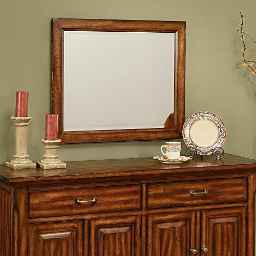 Amanda Home Marissa County Dining Collection Solid Cherry Beveled Mirror