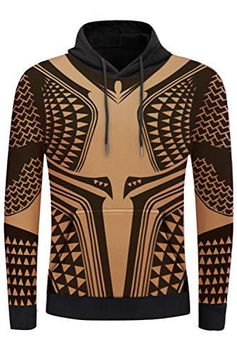 COSMOVIE 3D Printed Zip Up Hoodies for Men Casual Pullover Hooded Sweashirt Jacket with Kanga Pocket]()